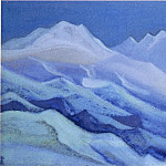 Roerich N.K. (Part 5) - The Himalayas # 42 The Glacier Lighted by the Moon