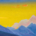 Roerich N.K. (Part 5) - The Himalayas # 38 Vision of the blue peaks