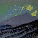Roerich N.K. (Part 4) - Himalayas # 212 Spurs of blue mountains at night