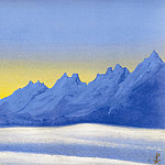 Roerich N.K. (Part 5) - The Himalayas # 59 Outlines of distant mountains