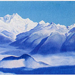 Roerich N.K. (Part 4) - Himalayas # 48 blue mountains