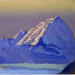 Roerich N.K. (Part 5) - Himalayas # 71 snowy mountains in the evening dawn