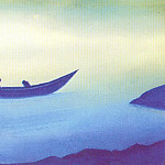 Roerich N.K. (Part 5) - Sadness (sketch) # 54 (Sadness (two in boat). sketch)