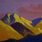 Roerich N.K. (Part 5) - Himalayas # 41 Mountains illuminated by the setting sun