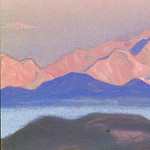 The Himalayas # 180 Scarlet Peaks, Roerich N.K. (Part 5)