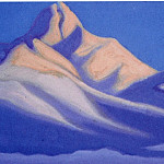 Roerich N.K. (Part 6) - Himalayas # 90 Peak snowy mountains at dawn