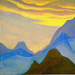 Roerich N.K. (Part 4) - Evening # 30 Evening (Golden cloud over the blue top)