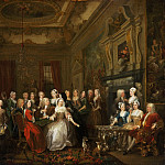 William Hogarth, English, 1697-1764 -- Assembly at Wanstead House, Philadelphia Museum of Art