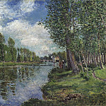 Alfred Sisley, French, 1839-1899 -- Banks of the Loing River, Philadelphia Museum of Art