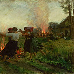 Jules-Adolphe-Aimé-Louis Breton, French, 1827-1906 -- The Feast of Saint John, Philadelphia Museum of Art