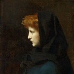 Philadelphia Museum of Art - Jean-Jacques Henner, French, 1829-1905 -- Head of a Girl