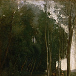 Jean-Baptiste-Camille Corot, French, 1796-1875 -- Under Trees, Marcoussy, Philadelphia Museum of Art