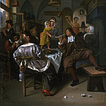 Attributed to Jan Steen, Dutch , 1625/26-1679 -- Merry Company, Philadelphia Museum of Art