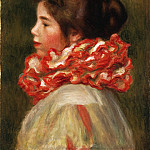 Girl in a Red Ruff, Pierre-Auguste Renoir