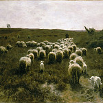 Anton Mauve, Dutch , 1838-1888 -- The Return of the Flock, Laren, Philadelphia Museum of Art