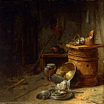 Willem Kalf, Dutch , 1619-1693 -- Kitchen, Philadelphia Museum of Art