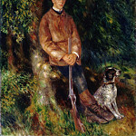 Portrait of Alfred Bérard with His Dog, Pierre-Auguste Renoir