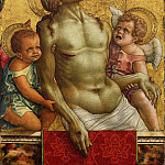 Carlo Crivelli, Italian , first documented 1457, died 1495-1500 -- Dead Christ Supported by Two Angels, Philadelphia Museum of Art