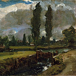 John Constable, English, 1776-1837 -- Landscape with a River, Philadelphia Museum of Art