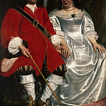 Philadelphia Museum of Art - Attributed to Lodewyck van der Helst, Dutch (active Amsterdam), 1642-c. 1684 -- Portrait of a Gentleman and a Lady Seated Outdoors
