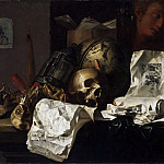 N. L. Peschier, Netherlandish, active 1659-1661 -- Vanitas, Philadelphia Museum of Art