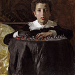 Antonio Mancini, Italian, 1852-1930 -- Young Boy with Toy Soldiers, Philadelphia Museum of Art