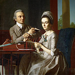 John Singleton Copley, American, 1738-1815 -- Portrait of Mr. and Mrs. Thomas Mifflin , Philadelphia Museum of Art