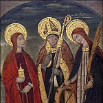 Pere Espalargues , Spanish , documented 1490 -- Saints Mary Magdalene, Ermengold, and Catherine of Alexandria, Philadelphia Museum of Art