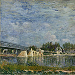 Alfred Sisley, French, 1839-1899 -- The Bridge at Saint-Mammes, Philadelphia Museum of Art