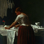 François Bonvin, French, 1817-1887 -- Woman Ironing, Philadelphia Museum of Art