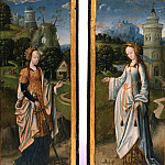 Philadelphia Museum of Art - Netherlandish (active Antwerp?) -- Saints Catherine of Alexandria and Barbara