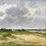 Eugène-Louis Boudin, French, 1824-1898 -- Etaples, les Bords de la Canche, Philadelphia Museum of Art
