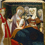 Philadelphia Museum of Art - Villamediana Master, Spanish (active Palencia), active c. 1430-c. 1460 -- The Birth of the Virgin