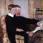 Mary Stevenson Cassatt, American, 1844-1926 -- Portrait of Alexander J. Cassatt and His Son, Robert Kelso Cassatt, Philadelphia Museum of Art