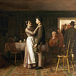 Thomas Hovenden, American , 1840-1895 -- Breaking Home Ties, Philadelphia Museum of Art