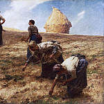 Léon-Augustin Lhermitte, French, 1844-1925 -- The Gleaners, Philadelphia Museum of Art