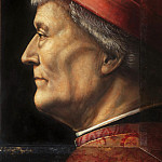 Vincenzo Foppa, Italian , born 1427- 30, died 1515/16 -- Portrait of an Elderly Gentleman, Philadelphia Museum of Art