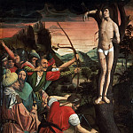 Philadelphia Museum of Art - Josse Lieferinxe, French, documented 1493-1505/8 -- Saint Sebastian Pierced with Arrows