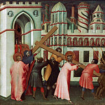 Giovanni di Paolo , Italian , first documented 1417, died 1482 -- Christ on the Way to Calvary, Philadelphia Museum of Art