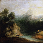 Thomas Gainsborough, English, 1727-1788 -- Pastoral Landscape, Philadelphia Museum of Art