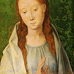 Hans Memling, Netherlandish , first documented 1465, died 1494 -- The Virgin, Philadelphia Museum of Art