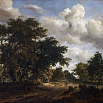 Meindert Hobbema, Dutch , 1638-1709 -- Landscape with a Wooded Road, Philadelphia Museum of Art
