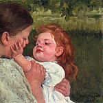 Mary Stevenson Cassatt, American, 1844-1926 -- Maternal Caress, Philadelphia Museum of Art