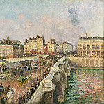 Philadelphia Museum of Art - Camille Pissarro, French, 1830-1903 -- Afternoon Sunshine, Pont Neuf