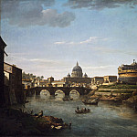 William Marlow, English, 1740-1813 -- View of Rome from the Tiber, Philadelphia Museum of Art