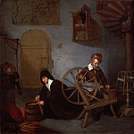 Quirijn Gerritsz. van Brekelenkam, Dutch , c. 1620-1668 -- A Wool Spinner and His Wife, Philadelphia Museum of Art