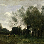 Jean-Baptiste-Camille Corot, French, 1796-1875 -- Pollard Willows, Philadelphia Museum of Art