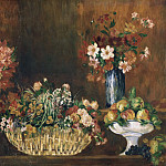 Philadelphia Museum of Art - Pierre-Auguste Renoir, French, 1841-1919 -- Still Life with Flowers and Fruit