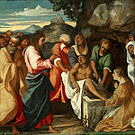 Palma il Vecchio , Italian , first documented 1510, died 1528 -- The Raising of Lazarus, Philadelphia Museum of Art