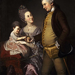 Charles Willson Peale, American, 1741-1827 -- Portrait of John and Elizabeth Lloyd Cadwalader and Their Daughter Anne, Philadelphia Museum of Art